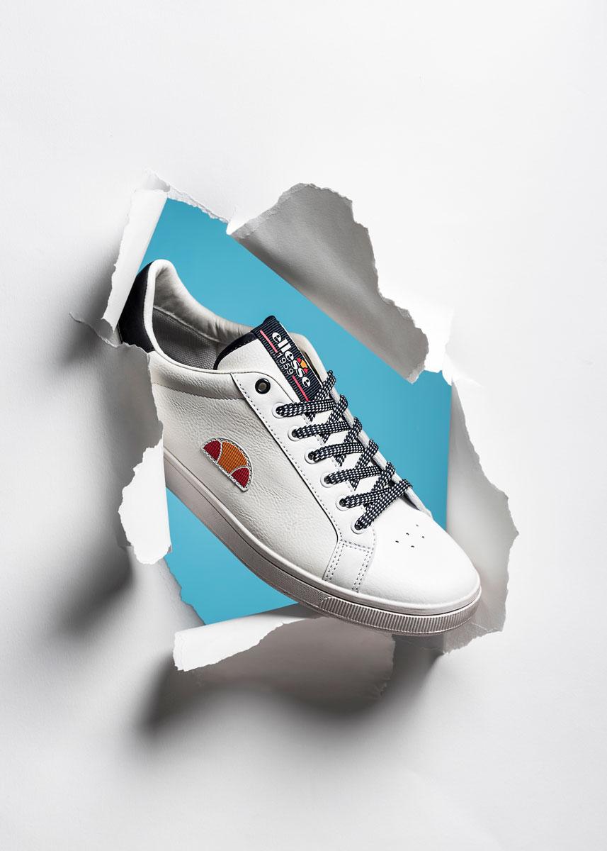 Foto pubblicitaria sneakers Ellesse